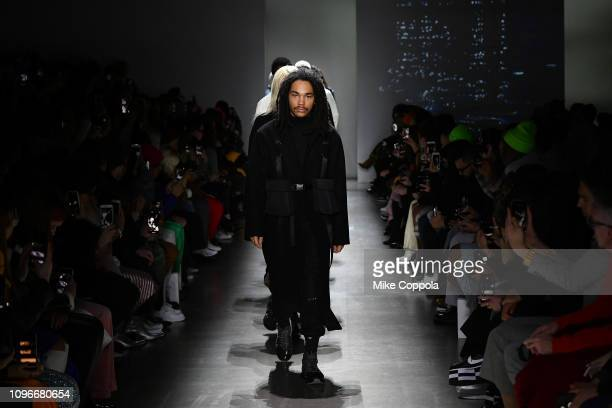 Models walk the runway for the Concept Korea fashion show during New York Fashion Week The Shows at Gallery I at Spring Studios on February 9 2019 in...