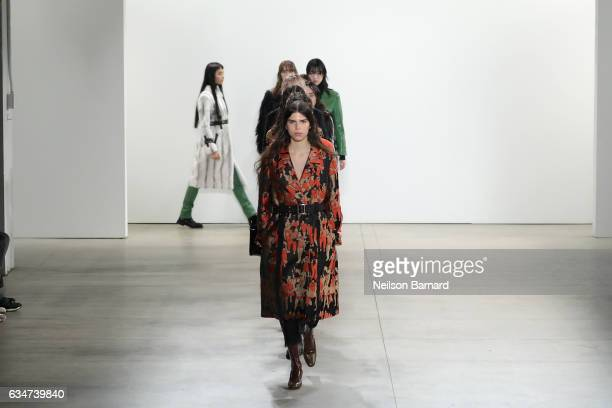 Models walk the runway for the Creatures of the Wind collection during New York Fashion Week The Shows at Gallery 2 Skylight Clarkson Sq on February...