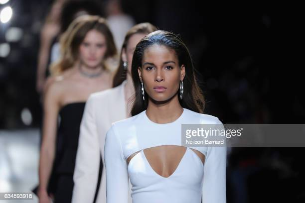 Models walk the runway for the Cushnie Et Ochs collection during New York Fashion Week at Gallery 1 Skylight Clarkson Sq on February 10 2017 in New...