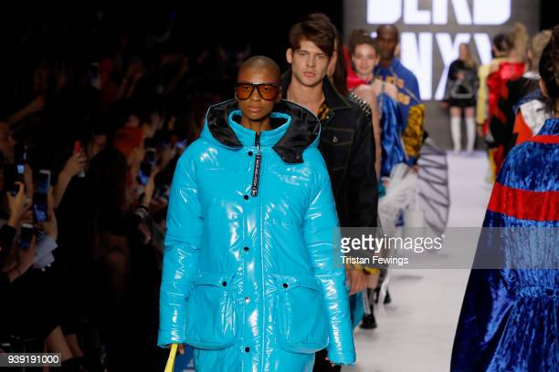 Models walk the runway for the DB Berdan show during Mercedes Benz Fashion Week Istanbul at Zorlu Center on March 28 2018 in Istanbul Turkey