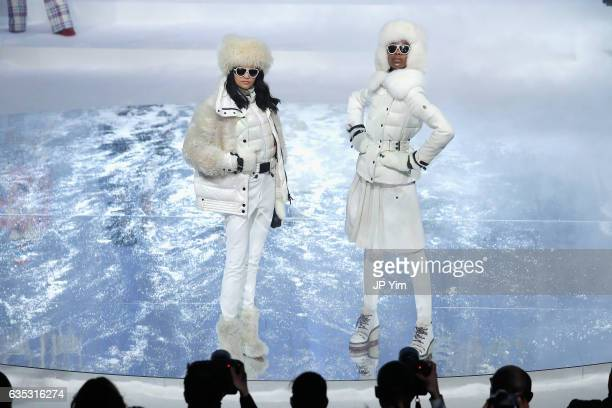 Models walk the runway for the Moncler Grenoble collection during New York Fashion Week The Shows on February 14 2017 in New York City