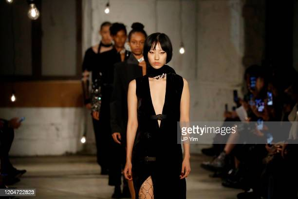 Models walk the runway for the Monse fashion show during February 2020 New York Fashion Week The Shows on February 07 2020 in New York City