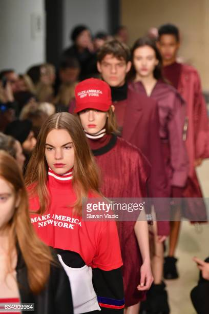 Models walk the runway for the Public School collection during New York Fashion Week The Shows at Milk Gallery on February 12 2017 in New York City