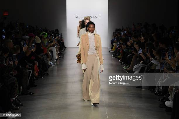 Models walk the runway for the Taoray Wang fashion show during February 2020 - New York Fashion Week: The Shows at Gallery II at Spring Studios on...