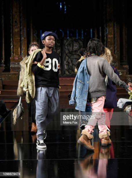 Models walk the runway for TRICO FIELD At New York Fashion Week Powered By Art Hearts Fashion NYFW at The Angel Orensanz Foundation on February 9...