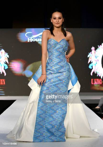 Models walk the runway for UKing Queen on day 2 of the House of iKons show during London Fashion Week September 2018 at the Millennium Gloucester...