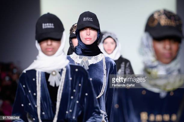 Models walk the runway for Vivi Zubedi during New York Fashion Week The Shows at Industria Studios on February 11 2018 in New York City