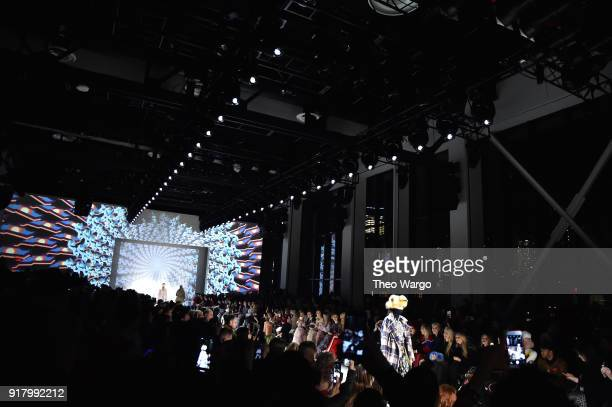 Models walk the runway for Vivienne Tam during New York Fashion Week The Shows at Gallery I at Spring Studios on February 13 2018 in New York City