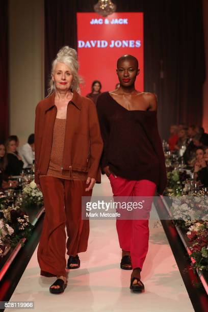 Models walk the runway in designs by Jac Jack during the David Jones Spring Summer 2017 Collections Launch at David Jones Elizabeth Street Store on...