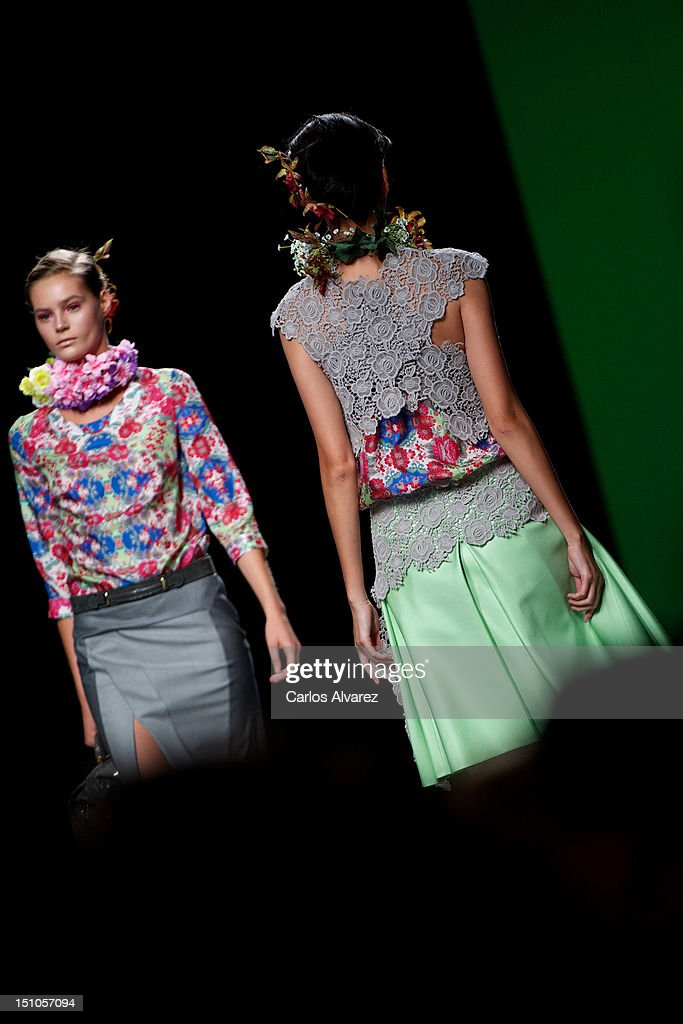 Models walk the runway in the Devota & Lomba fashion show during the Mercedes-Benz Fashion Week Madrid Spring/Summer 2013 at Ifema on August 31, 2012 in Madrid, Spain.