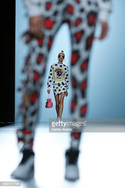 Models walk the runway in the Maria Escote fashion show during the Mercedes Benz Fashion Week Madrid Spring/Summer 2015 at Ifema on September 15,...
