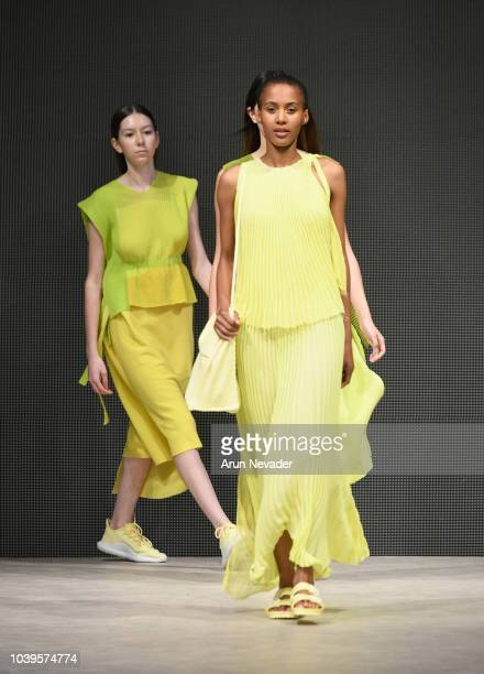 Models walk the runway wearing Annika Klaas at Vancouver Fashion Week Spring/Summer 19 Day 7 on September 23 2018 in Vancouver Canada