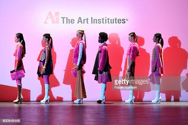 Models walk the runway wearing Bianca Zidik at The Art Institutes fashion show during New York Fashion Week The Shows September 2016 at The Arc...