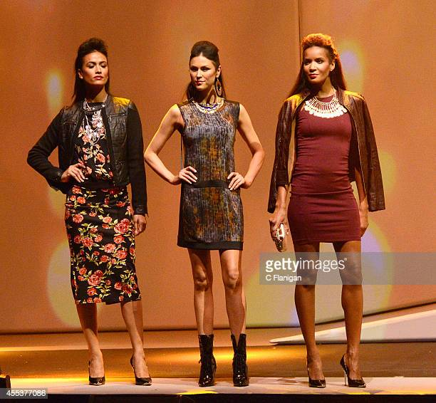 Models walk the runway wearing clothing from the Impulse Fashion collection at the 2014 Macy's Passport Glamorama Fashion Rocks show at The Golden...