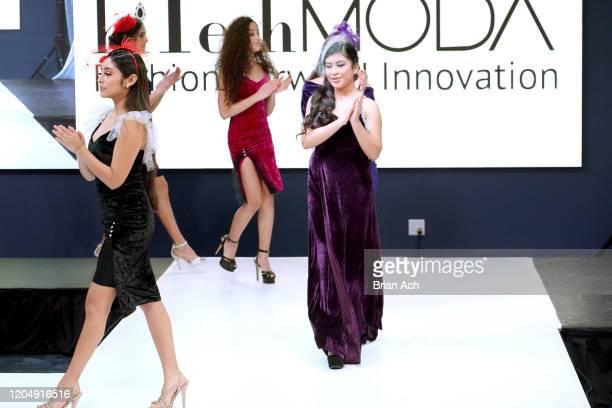 Models walk the runway wearing Fernandita Salazar Fashion Designer during NYFW Powered By hiTechMODA on February 08, 2020 in New York City.