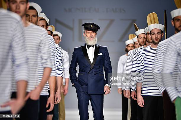 Models walk the runway wearing Finezza Au Nom De L'Homme spring 2016 collection during World MasterCard Fashion Week Spring 2016 at David Pecaut...