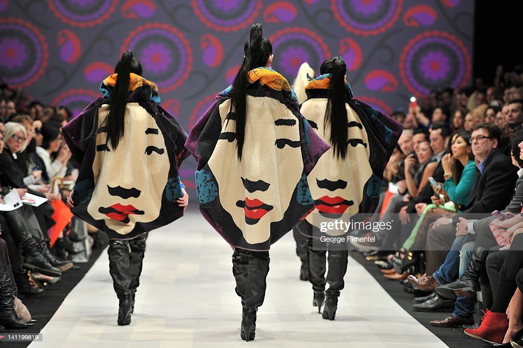 World MasterCard Fashion Week Fall 2012 Collection in Toronto - Korhani - Runway : News Photo