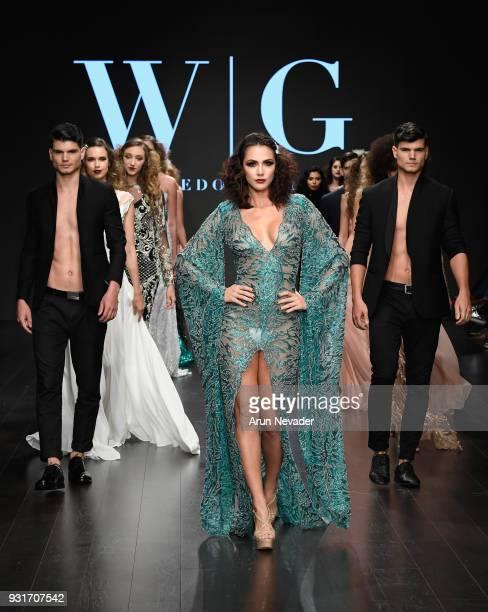 Models walk the runway wearing Willfredo Gerardo at Los Angeles Fashion Week Powered by Art Hearts Fashion LAFW FW/18 10th Season Anniversary at The...