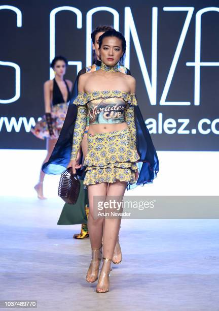 Models walk the runway wearing Yas Gonzalez at Vancouver Fashion Week Spring/Summer 19 Day 4 on September 20 2018 in Vancouver Canada