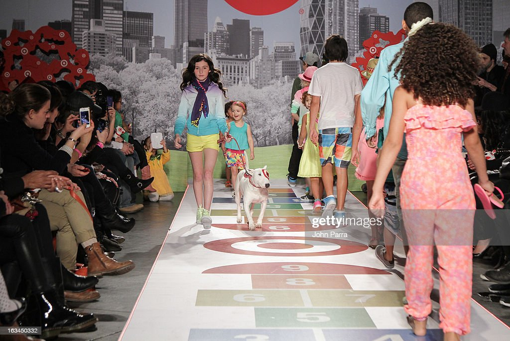 Models walk the Target runway showcase during the 2013 petitePARADE Kids Fashion Week at Industria Superstudio on March 9, 2013 in New York City.