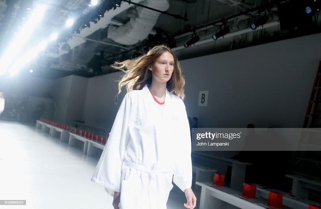 Models 'walk through' during the Noon By Noor September 2017, New York Fashion Week: The Shows at Gallery 3, Skylight Clarkson Sq on September 7, 2017 in New York City.