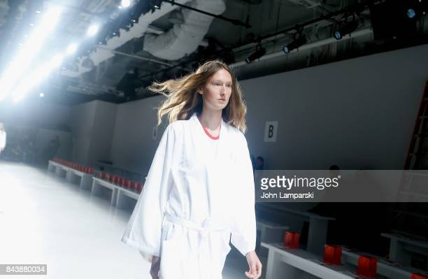 Models 'walk through' during the Noon By Noor September 2017 New York Fashion Week The Shows at Gallery 3 Skylight Clarkson Sq on September 7 2017 in...
