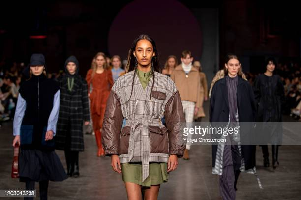 Models walking the final walk on the runway at theBaum Und Pferdgarten show during the Copenhagen Fashion Week Autumn/Winter 2020 on January 30 2020...