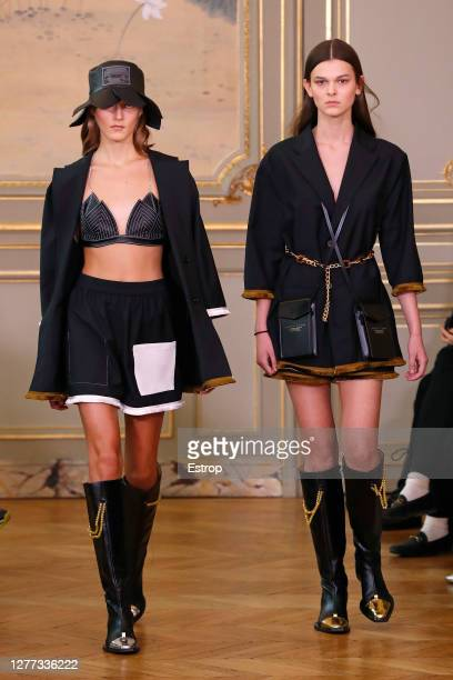 Models walking the runway during the Victoria/Tomas fashion show during Milan Women's Fashion Week Spring/Summer 2021 on September 29 2020 in Paris...