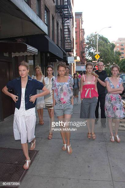Models walking to Presentation attends ADAMEVE by Adam Lippes Spring 2007 Fashion Show at Banchet Flowers on September 11 2006 in New York City