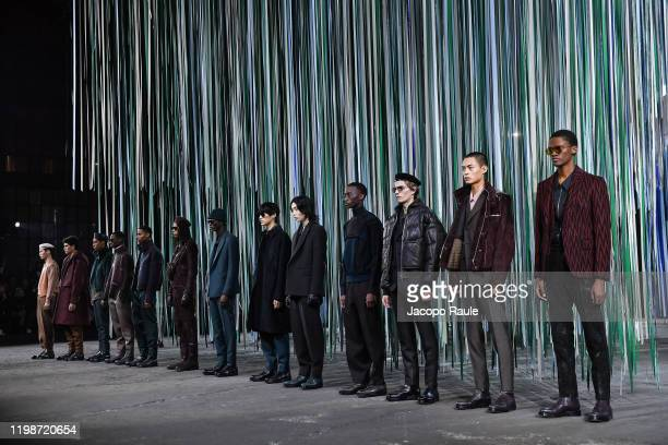 Models walks the runway at the Ermenegildo Zegna fashion show on January 10 2020 in Milan Italy