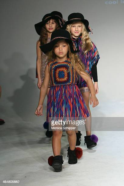 Models walks the runway at the Little Miss Galia show during petitePARADE / Kids Fashion Week at Bathhouse Studios on February 28 2015 in New York...
