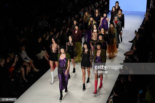 Models walks the runway at the Selma State show during the MercedesBenz Fashion Week Istanbul Autumn/Winter 2016 at Zorlu Center on March 16 2016 in...