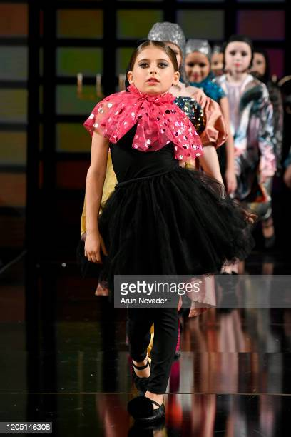 Models walks the runway during Lulu Et Gigi At New York Fashion Week Powered By Art Hearts Fashion NYFW 2020 at The Angel Orensanz Foundation on...