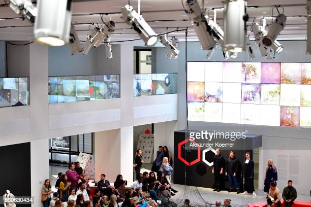 Models walks the runway during the American Women's Club And Esmod Charity Fashion Show at DRIVE Volkswagen Group Forum on October 12 2017 in Berlin...