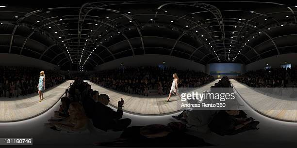 Models walks the runway during the Blugirl show as a part of Milan Fashion Week Womenswear Spring/Summer 2014 on September 19 2013 in Milan Italy