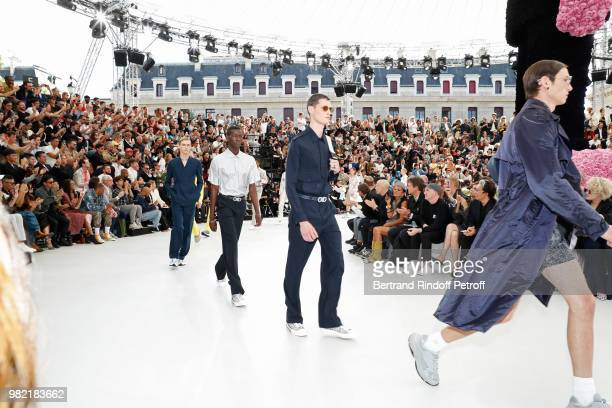 Models walks the runway during the Dior Homme Menswear Spring/Summer 2019 show as part of Paris Fashion Week on June 23 2018 in Paris France