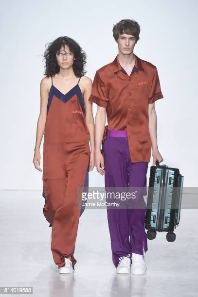 Models walks the runway during the General Idea Runway NYFW Men's July 2017 at Skylight Clarkson Sq on July 13 2017 in New York City