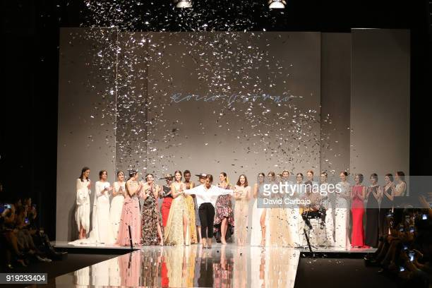 A models walks the runway wearing designs by Rocio Osorno on day tree of Code 41 on February 16 2018 in Seville Spain