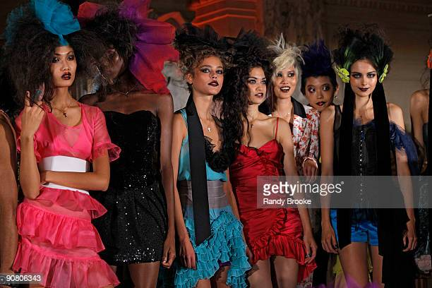 Models wear Betsey Johnson Spring 2010 during Mercedes-Benz Fashion Week at The Plaza Hotel on September 15, 2009 in New York City.
