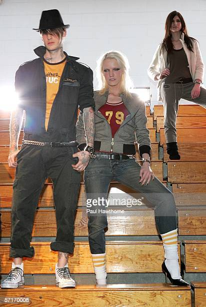 Models wear Converse by John Varvatos during a party at Xavier High School's gym March 23 2006 in New York City