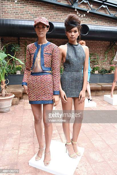 Models wear LaQuan Smith at the LaQuan Smith presentation during Spring 2016 New York Fashion Week on September 13 2015 in New York City