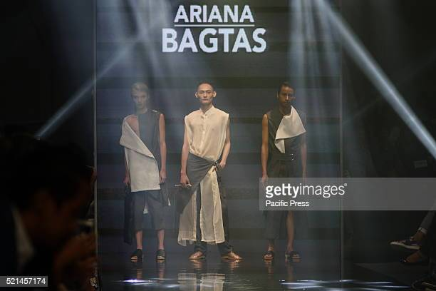 Models wear the designs of Ariana Bagtas during the Manila Fashion Festival 2016