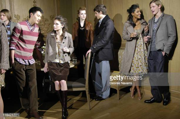 Models wearing Adam and Eve Fall 2006 during Olympus Fashion Week Fall 2006 Adam and Eve Presentation and Backstage at Buddakan in New York City New...