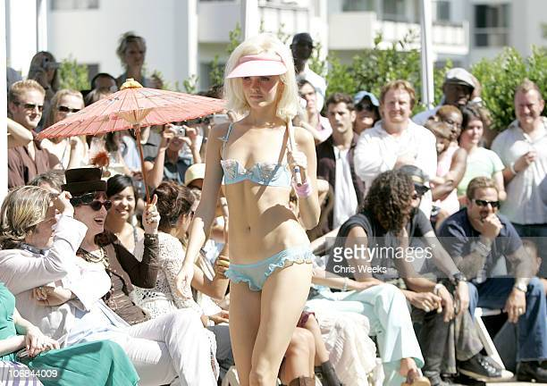 Models wearing Agent Provocateur during 'Confessions of a Pool Boy' at The Sunset Marquis and Villas Hosted by Agent Provocateur and Smashbox...