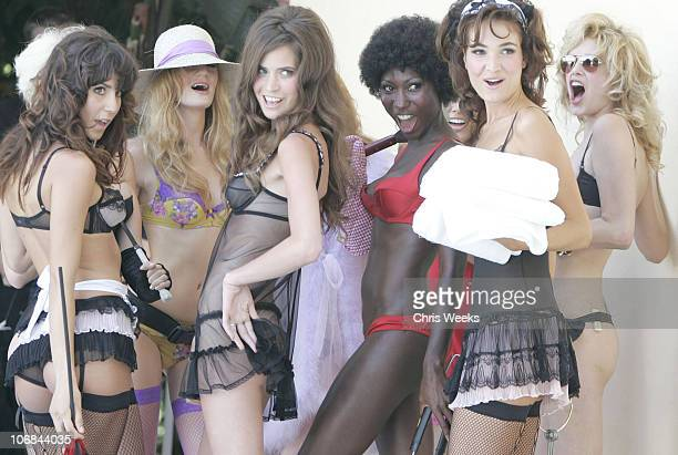 Models wearing Agent Provocateur during Confessions of a Pool Boy at The Sunset Marquis and Villas Hosted by Agent Provocateur and Smashbox Cosmetics...