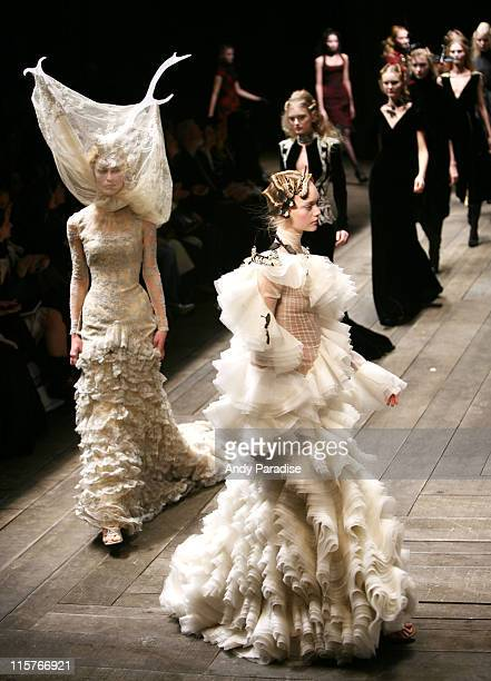 Models wearing Alexander McQueen Autumn/Winter 2006