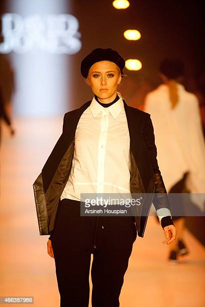 Models wearing Alice McCall at the opening of the 2015 Melbourne Fashion Festival on March 14 2015 in Melbourne Australia