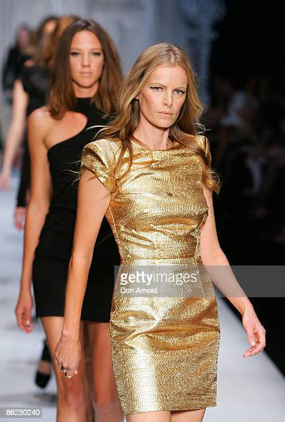 Models wearing Camilla and Marc designs walk the catwalk at the Overseas Passenger Terminal, Circular Quay on day one of Rosemount Australian Fashion...