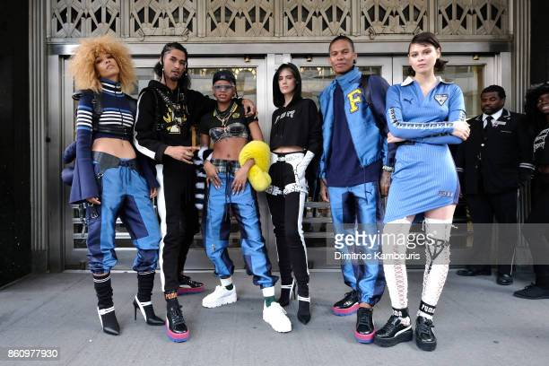 brand new ea719 eaa73 Rihanna Hosts Pep Rally To Celebrate Launch Of The Aw17 ...