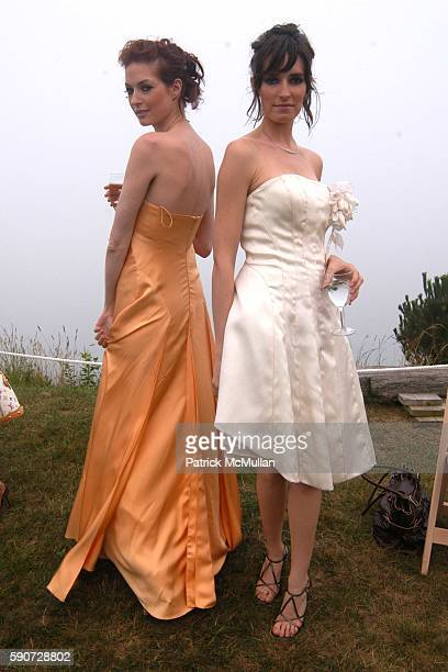 Models Wearing Junko Yoshioka attends Junko Yoshioka Presents Her Evening Wear Collection at Peter and Nejma Beard Residence on July 16 2005 in...